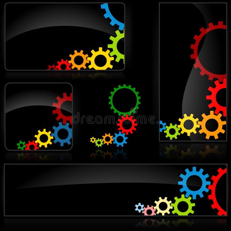 Cogwheel Black Banner royalty free stock images