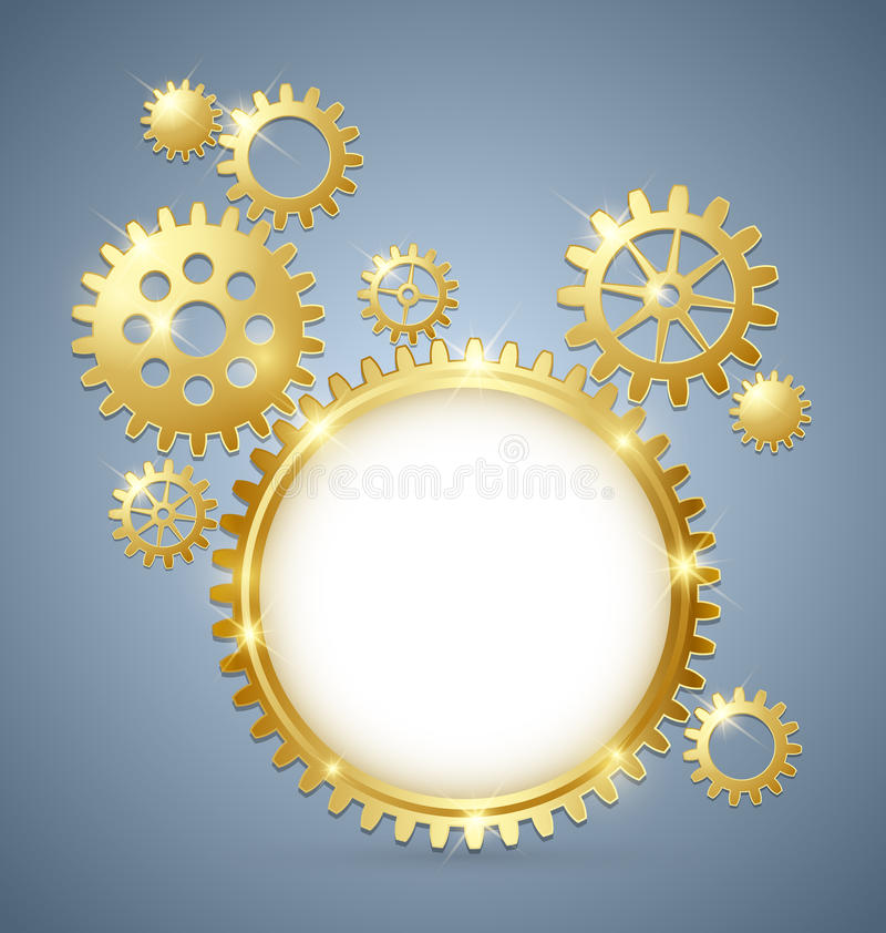 Cogwheel Gear Document Template Royalty Free Stock Photos