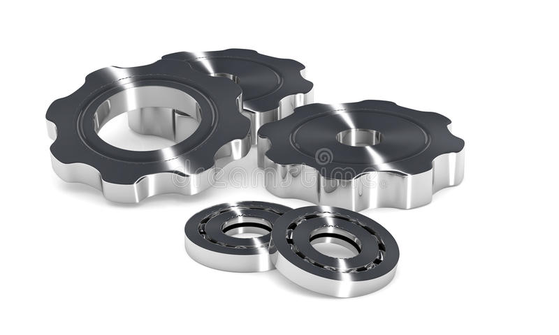 Download Cogwheel Gears And Ball Bearing Stock Illustration - Illustration of component, cogwheel: 25198636