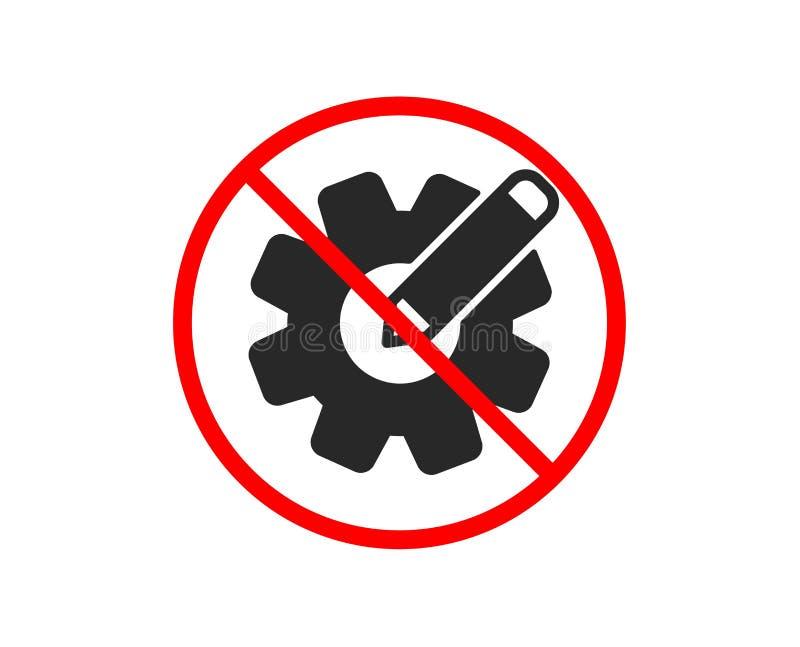 Cogwheel ikona Konstruować narzędzie znaka Redaguje położenia wektor royalty ilustracja