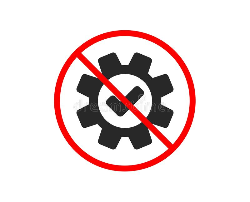 Cogwheel ikona Zatwierdzony usługa znak wektor royalty ilustracja