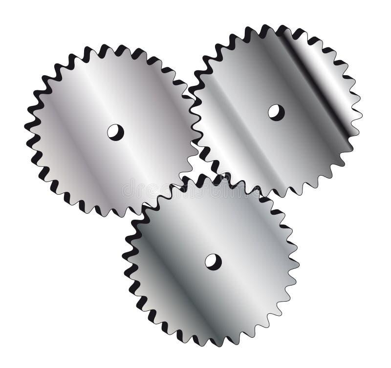 Cogwheel. Metal cogwheel for web and business cards stock illustration