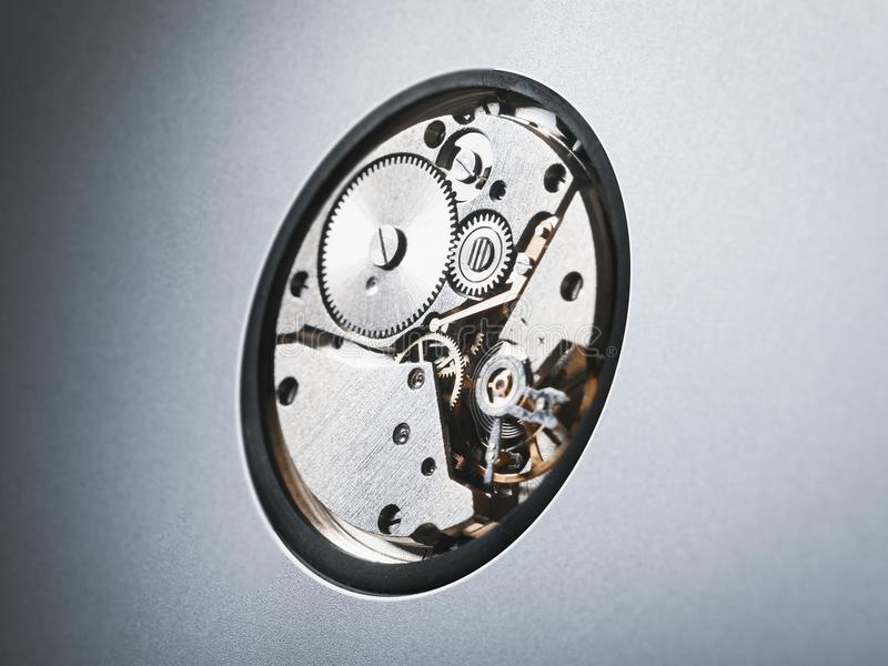 Cogwheels μετάλλων στο μηχανισμό στοκ εικόνες