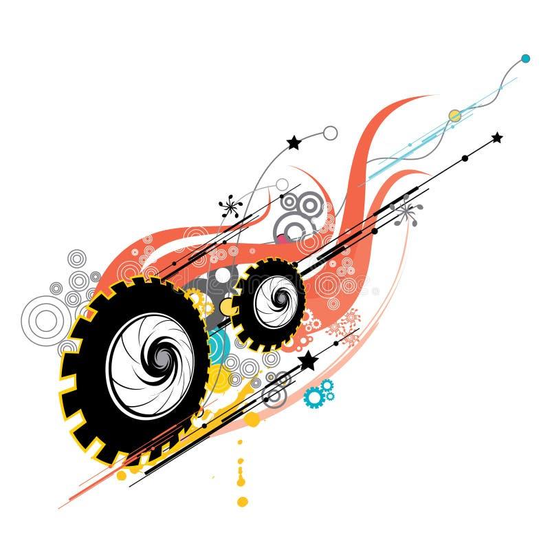 cogwheels в стиле фанк иллюстрация штока