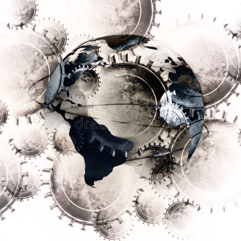 Cogwheels royaltyfri illustrationer