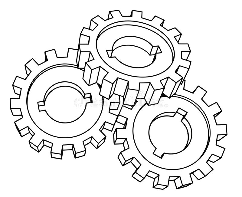 cogwheels ilustracja wektor