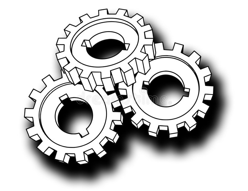 Cogwheels - business network royalty free illustration