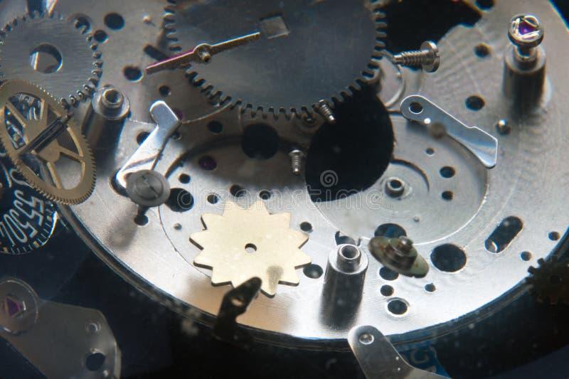 Cogwheels. Flying cogwheels of a wristwatch royalty free stock photography