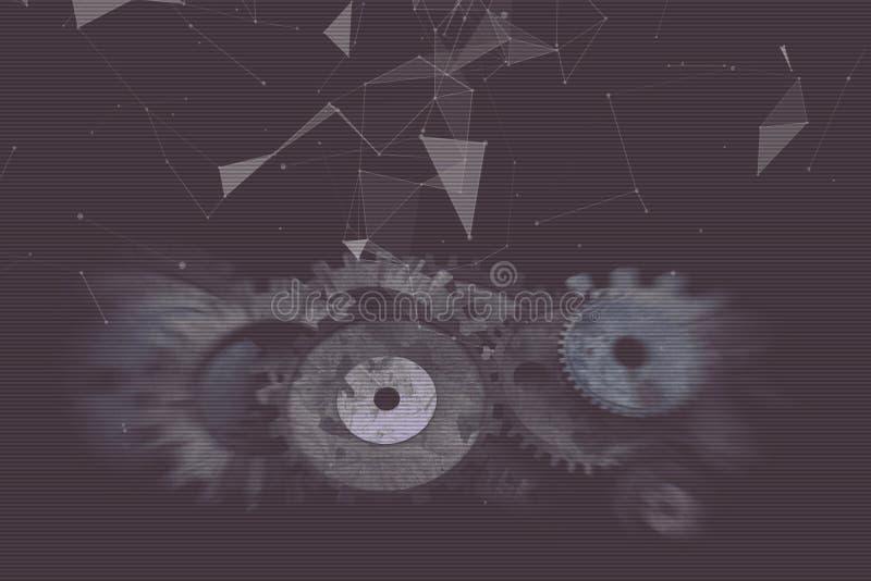 Cogwheels i przekładnia mechanizm royalty ilustracja