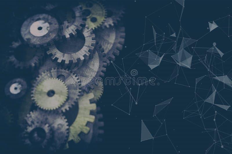 Cogwheels i przekładnia mechanizm fotografia stock