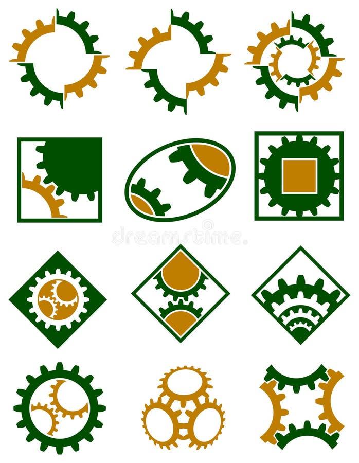 Cogwheels logo set royalty free illustration