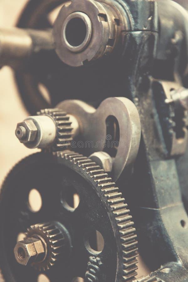 Cogwheels on machine royalty free stock images