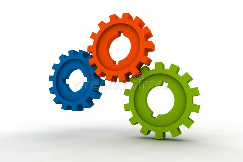 cogwheels odizolowane ilustracja wektor