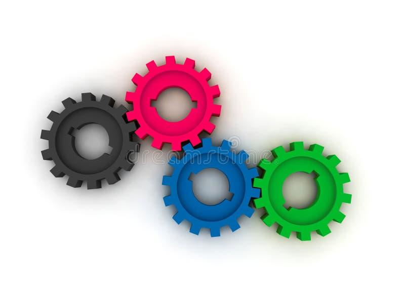 cogwheels odizolowywający ilustracji