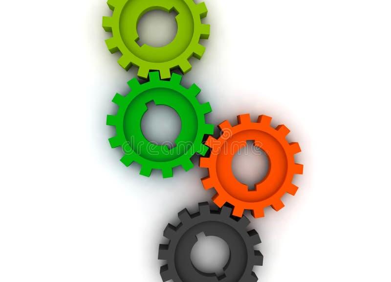 cogwheels odizolowywający royalty ilustracja
