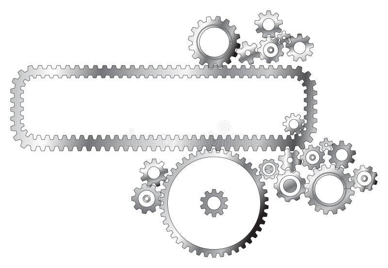 cogwheels różnych metali royalty ilustracja