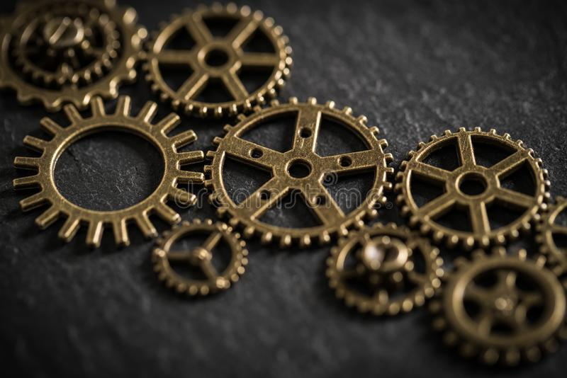 Cogwheels symbolizing teamwork. As a connected network of people royalty free stock photography
