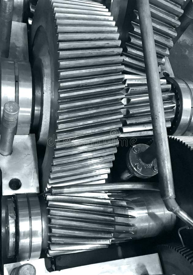 Cogwheels w gearbox obrazy royalty free