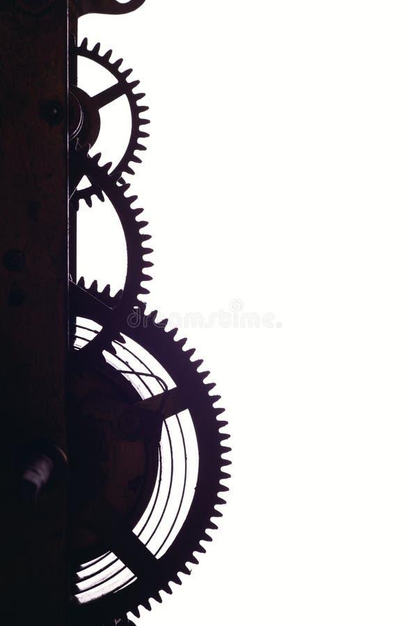Cogwheels w starym zegarze obraz royalty free