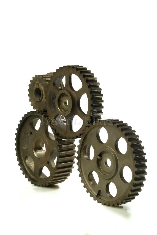 Cogwheels On White Free Stock Photos