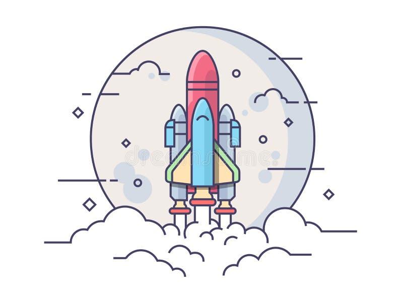 Cohete de espacio de lanzamiento libre illustration