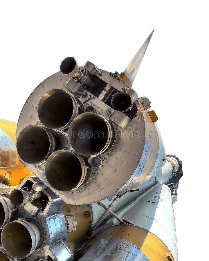 Cohete de espacio. la boquilla de la nave se puede ver cerca fotografía de archivo libre de regalías
