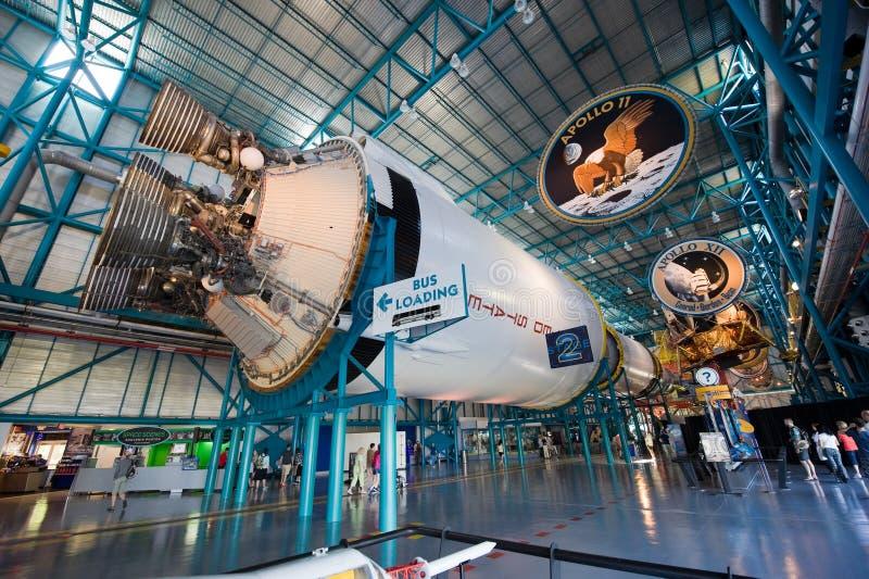 Cohete de Saturn V en Kennedy Space Center fotos de archivo libres de regalías