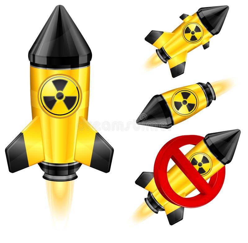 Cohete del peligro ilustración del vector
