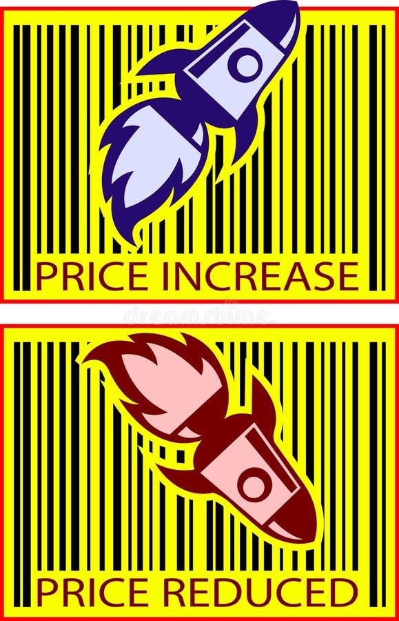 Cohete del valor del precio libre illustration