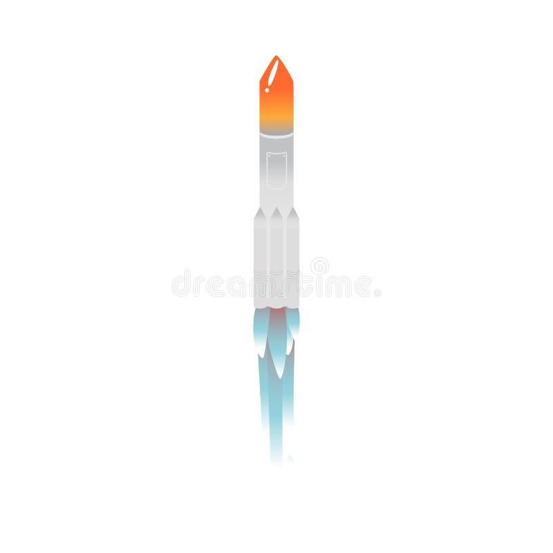 Cohete del vector que saca con el fuego libre illustration