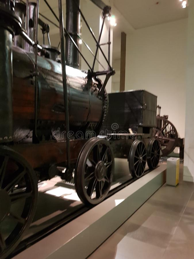 Cohete locomotor de Stephenson fotos de archivo
