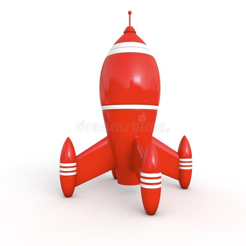 Cohete rojo 3d stock de ilustración