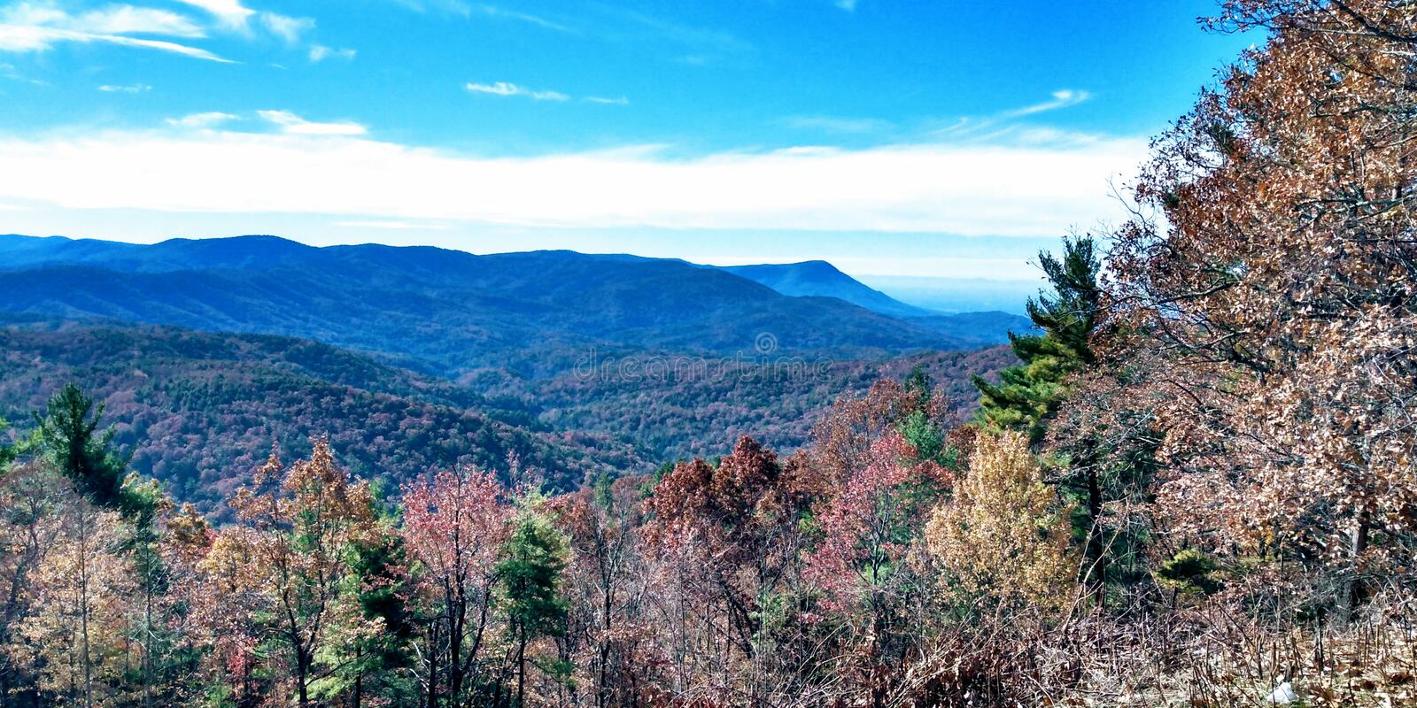 Cohutti Wilderness Fort Mountain fotografia de stock