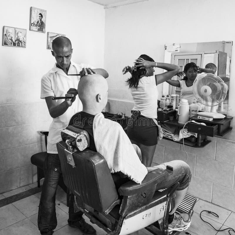 Coiffeur cubain photographie stock