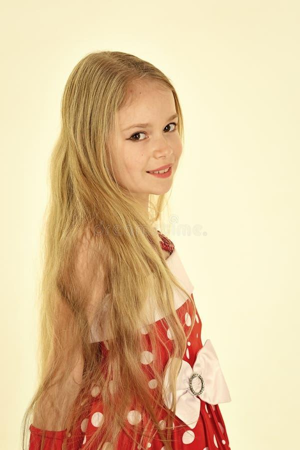 Coiffeur et raseur-coiffeur coiffeur, longs cheveux de petite fille photographie stock libre de droits