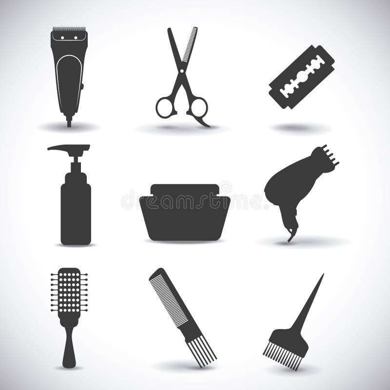 coiffure illustration de vecteur