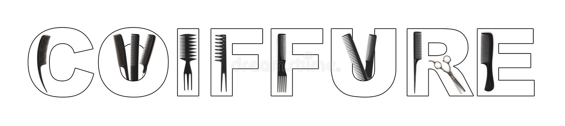 Coiffure concept stock illustration