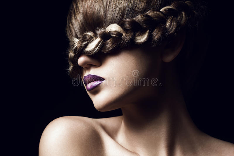 Coiffure créative photographie stock