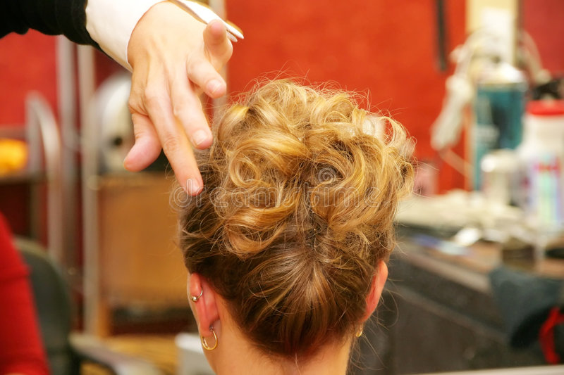 Coiffure d'Updo image stock
