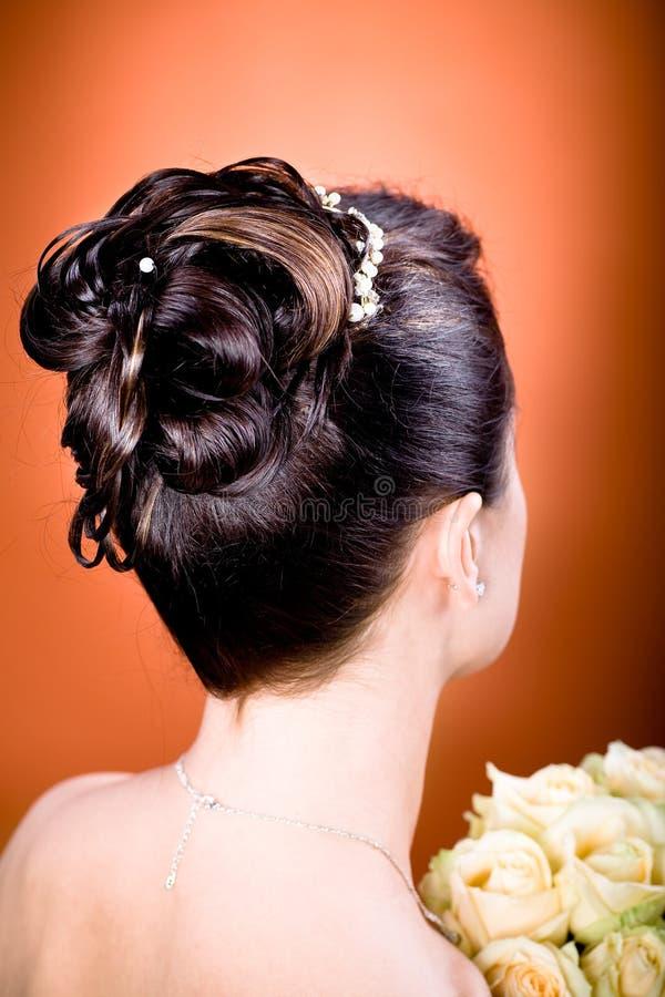 Coiffure de mariée photo stock
