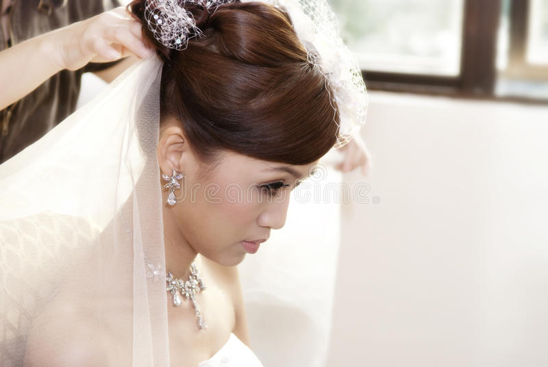 Coiffure de mariée images libres de droits
