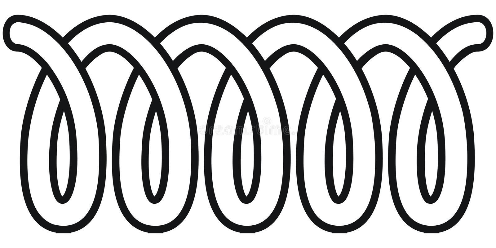 Coil. Art illustration in black and white: a coil vector illustration