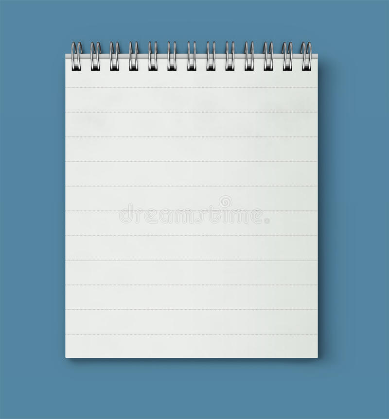 Coil bound notebook. Vector illustration of realistic coil bound notebook royalty free illustration