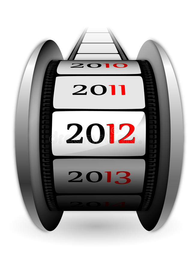 Coil with date 2012. New year 2012, 3d illustration royalty free illustration