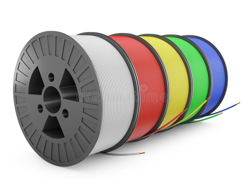 Coil electric wire stock illustration. Illustration of white - 54453137