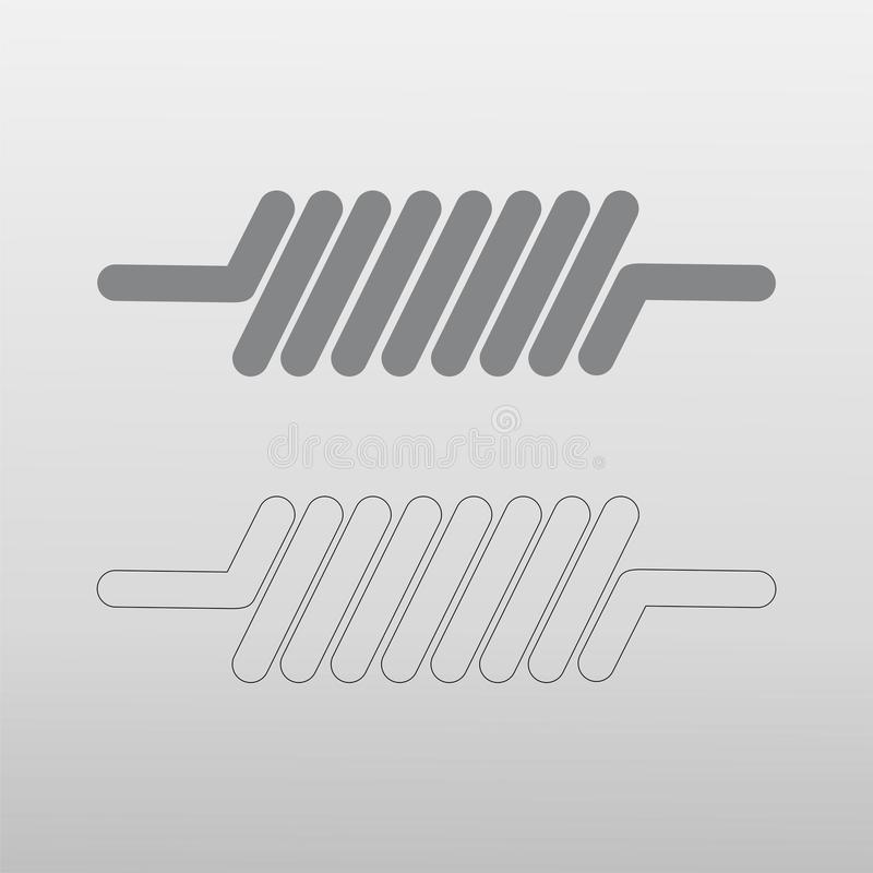 Coil icon. On white background vector illustration