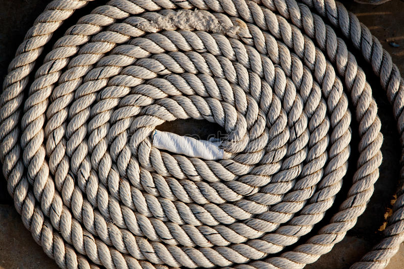 Coil Of Marine Rope Detail Royalty Free Stock Photography