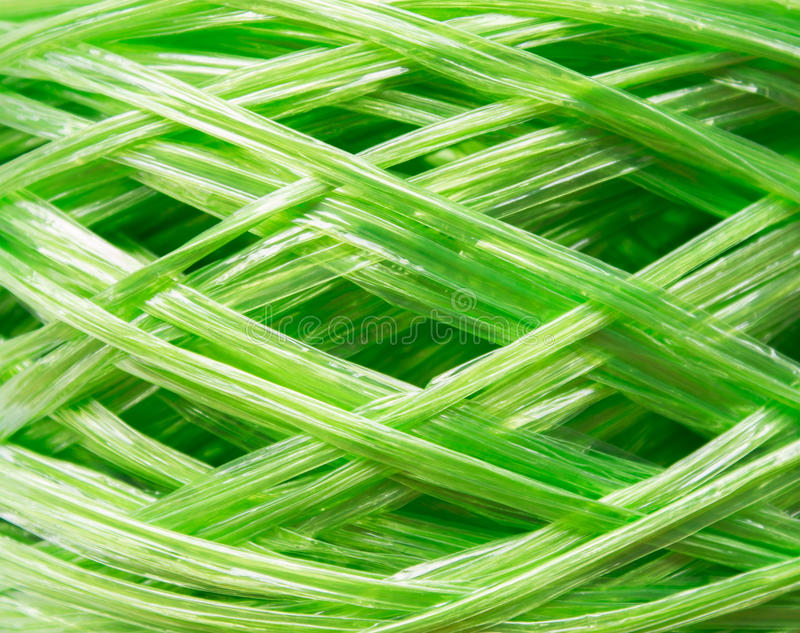 coil of plastic rope stock image