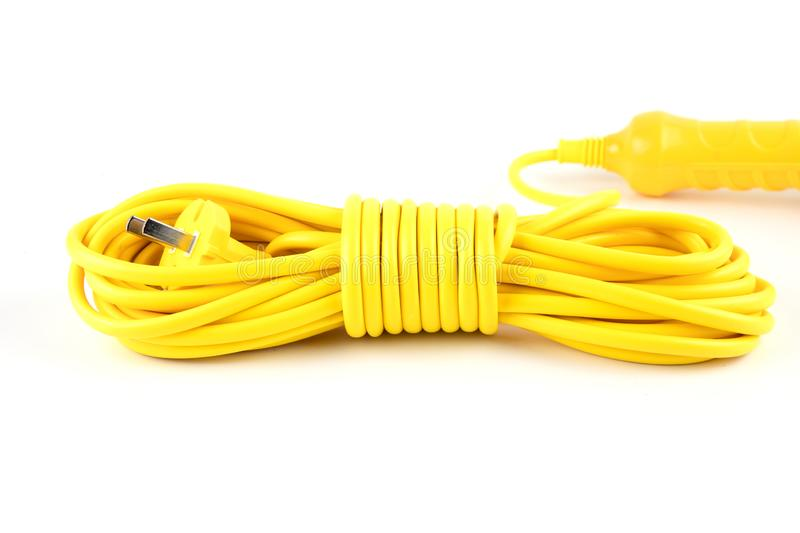 Coil the power cord insulation. royalty free stock photos