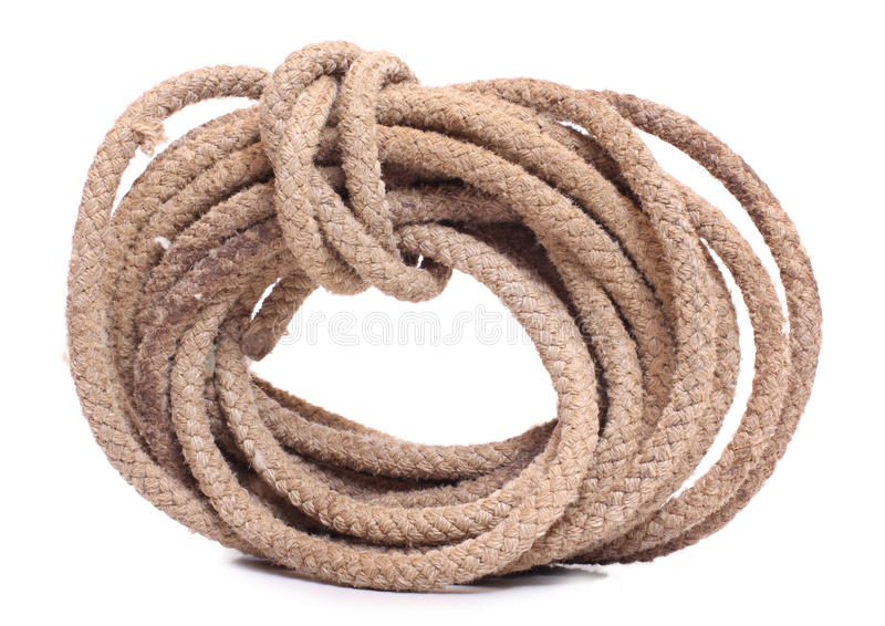 Download Coil rope stock photo. Image of rough, tether, tied, isolated - 20370094